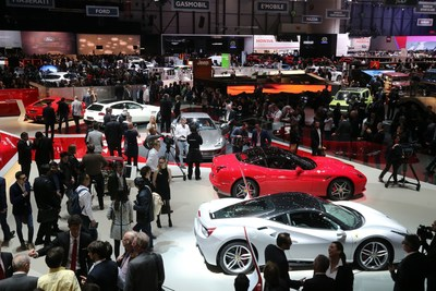 2016 Geneva International Motor Show. (PRNewsFoto/Veuve Clicquot) (PRNewsFoto/Veuve Clicquot)
