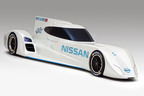 Nissan's new Le Mans 24 Hour challenger, the ZEOD RC will showcase multiple electric drivetrain technologies. The car was unveiled in France today. The ZEOD RC will race in the 2014 round-the-clock event.  (PRNewsFoto/Nissan)