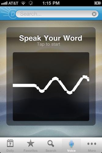 Dictionary.com Voice-to-Text.  (PRNewsFoto/Dictionary.com)