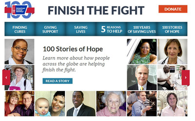 From researchers seeking cures, to volunteers going above and beyond in their communities, we're featuring 100 stories from everyday people who are taking action to help us finish the fight. http://www.cancer.org/fight/100-stories.  (PRNewsFoto/American Cancer Society)