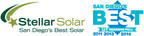 Stellar Solar Voted Best Solar Panel Company in San Diego Again
