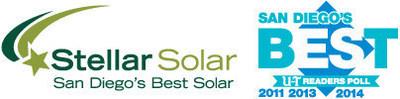Stellar Solar named Best Solar Panel Company in San Diego (PRNewsFoto/Stellar Solar)