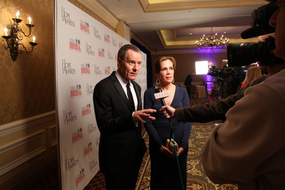 Actor Bryan Cranston and his wife, Robin Dearden, arrive at the 2013 Hope Awards, where they were honored for their work with the National Center for Missing & Exploited Children.