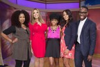 "Monica Stevens of MoKnowsHair.com, Wendy Williams and celebrity stylist Johnny Wright with two lucky ""Wendy Watchers,"" who received hair upgrades using Dark and Lovely Au Naturale, Dark and Lovely Fade Resist Rich Conditioning Color and Optimum Amla Legend Rejuvenating Ritual."