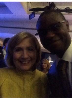 Arthur Wylie( entrepreneur, film producer, philanthropist) with Hillary Clinton att the Inaugural Legacy Project Dinner Honoring President George W. Bush