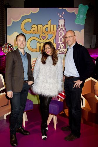 Recording artist, Nicole Scherzinger, joins King in London at the launch of its game, Candy Crush Soda Saga (PRNewsFoto/King Digital)