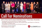Honoring Corporate Trailblazers: 2016 WomenCorporateDirectors Visionary Awards Call for Nominations