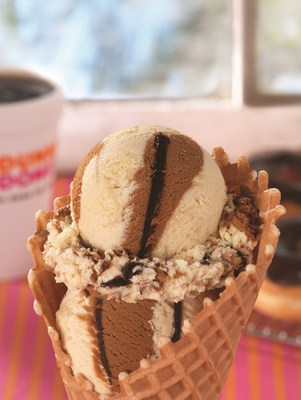 BASKIN-ROBBINS INTRODUCES A COOL NEW TWIST ON DONUTS AND COFFEE WITH NEW DUNKIN' DONUTS COFFEE 'N DONUT ICE CREAM