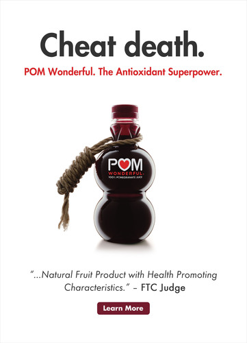 "POM Wonderful ""Cheat Death"" Advertisement.  (PRNewsFoto/POM Wonderful)"