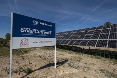 DTE Energy SolarCurrents solar array at Domino's Farms