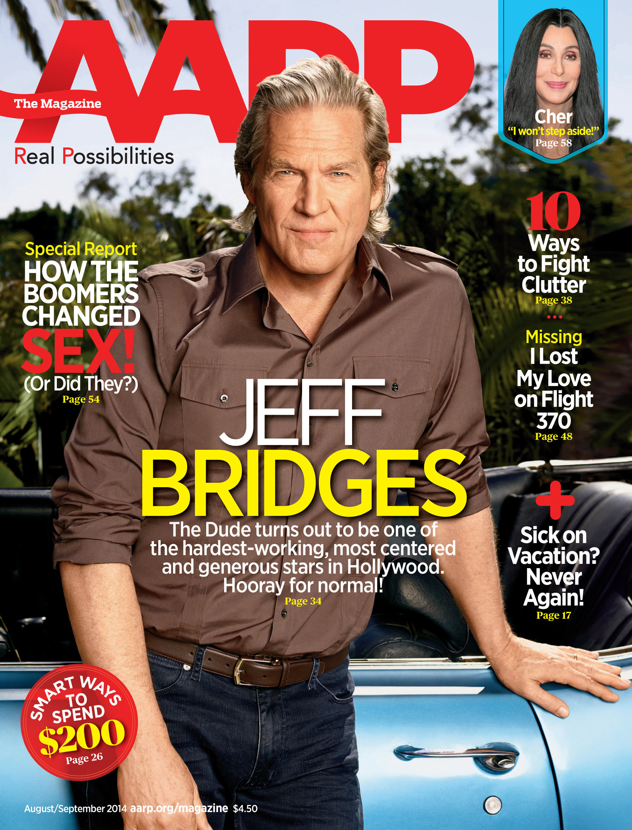 Jeff Bridges on the cover of AARP The Magazine. (PRNewsFoto/AARP)