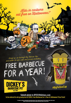 Dickey's Barbecue Pit hosts not-so-spooky costume contest for Halloween. Kids in costume eat free on October 31!