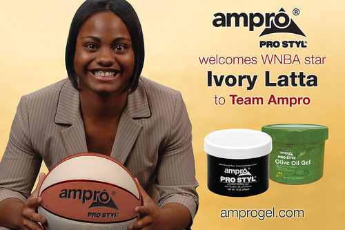 WNBA Star Ivory Latta Joins #TeamAmpro, the Global Advertising Campaign of Ampro Industries, Inc.  (PRNewsFoto/Ampro Industries, Inc.)