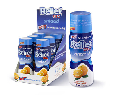 Relief OTC(TM) Offers New Hope For Heartburn Sufferers Nationwide