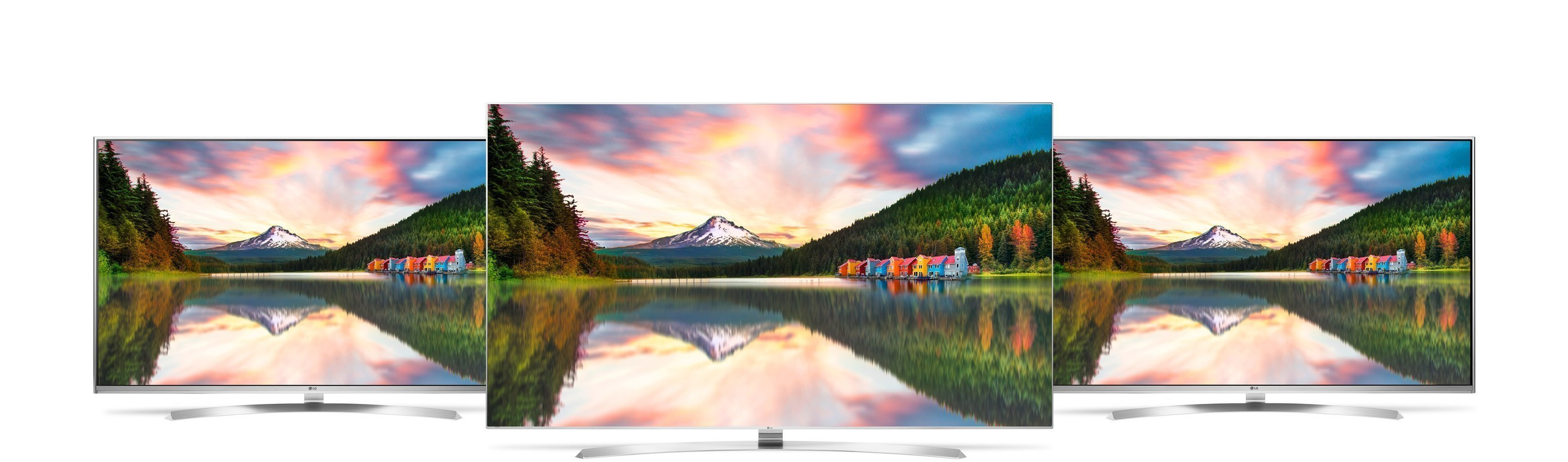 The LG SUPER UHD line for the U.S. boasts four series, including the UH9500, the UH8500 and the UH7700. The top-of-the-line UH9500, UH8500 and UH7700 LG SUPER UHD series boast an advanced IPS display with innovations such as True Black Panel and Contrast Maximizer for advanced picture quality at wide viewing angles.