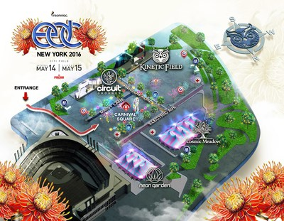 5th Annual Electric Daisy Carnival NY Festival Map