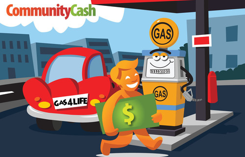Community Cash to introduce development plan of its network across the United States, creating local jobs in the process. Their successful Claim Gas For Life(TM) promotion is still on-going.  (PRNewsFoto/Community Cash, Inc)