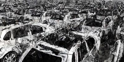 Liu Bolin, Tianjin Explosions, 2016