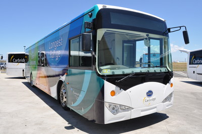 The Sydney International Airport's First Battery Electric Bus