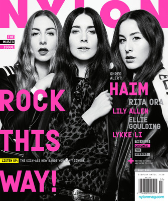 Haim, the sister group consisting of Este, Danielle, and Alana Haim are featured on the cover of NYLON's annual Music Issue, currently on sale at newsstands nationwide. (PRNewsFoto/NYLON MEDIA)