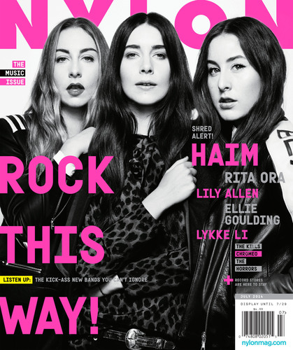 Haim, the sister group consisting of Este, Danielle, and Alana Haim are featured on the cover of NYLON's ...