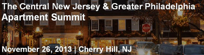 CapRate Events and its popular National Apartment Summit Series will introduce the inaugural Central New Jersey & Greater Philadelphia Apartment Summit on November 26. 350+ are expected to attend for discussion, debate and networking.  (PRNewsFoto/CAPRATE Events)