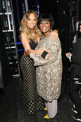 Patti LaBelle and Mariah Carey backstage at Black Girls Rock! Premieres Sunday, Nov. 3 at 7pm on BET. (PRNewsFoto/BET Networks) (PRNewsFoto/BET NETWORKS)