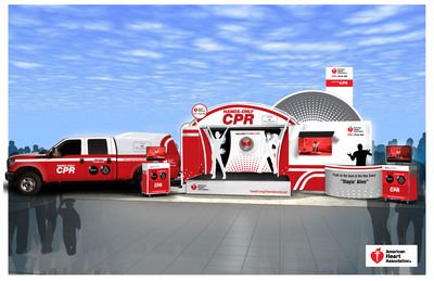 American Heart Association's State-of-the-Art Hands-Only(TM) CPR Mobile Training Unit