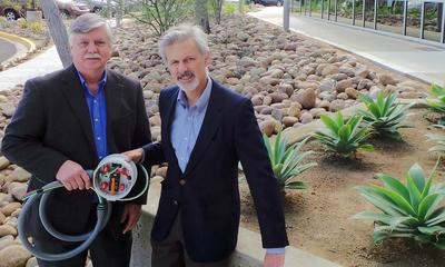 Mike Colburn & Ken Parks, inventors of the Renewable Meter Adapter