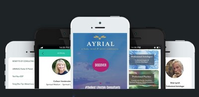 AYRIAL App, connect with a vetted body, mind and spirit consultant.