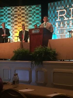 Landmark Health Regional Medical Director, Dr. John Broderick, receiving the Martin L. Block Award.