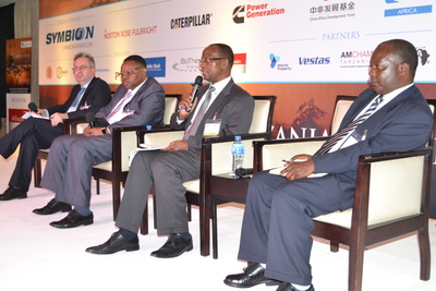 Speakers in session at one of EnergyNetâeuro(TM)s Powering Africa conferences (PRNewsFoto/EnergyNet)