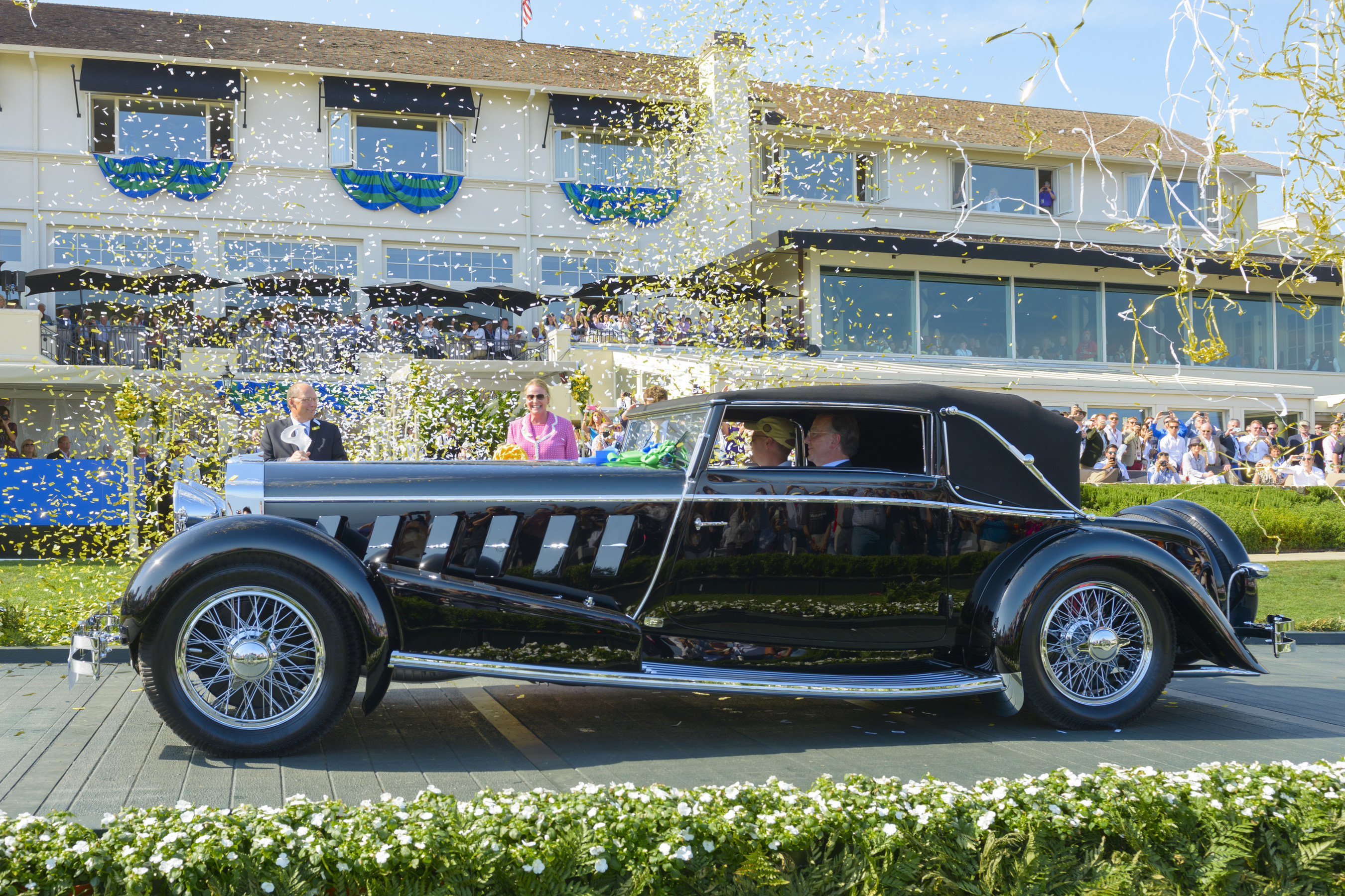 2015 Best of Show award goes to a 1924 Isotta Fraschini Tipo 8A F. Ramseier & Cie Worblaufern Cabriolet. Photo Copyright (C) Kimball Studios / Courtesy of Pebble Beach Concours d'Elegance