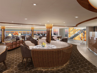 Rendering of New Signature Restaurant, The Grill by Thomas Keller, aboard Seabourn Encore
