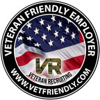 Employers can list their business for free on VetFriendly and use the badge to display their VetFriendly status.  (PRNewsFoto/Veteran Recruiting Services)