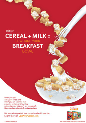 Love Your Cereal Infographic.  (PRNewsFoto/Kellogg Company)