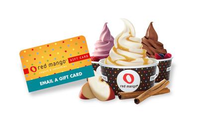 Red Mango seasonal flavors with new eGift Card.