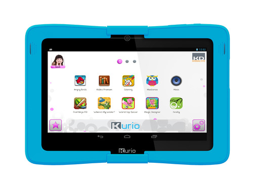 Kurio 10s Android 4.2 tablet for families with kids by Techno Source. Using the intuitive Kurio interface, families can create up to eight unique user profiles. Each family member can personalize their Kurio device by uploading a profile picture and choosing from a large selection of themes and avatars. Each profile offers full separation of files, apps, search history, game progress and scores, downloads, parental control settings music, videos, pictures etc. It's like having eight different tablets in one.  (PRNewsFoto/Techno Source)