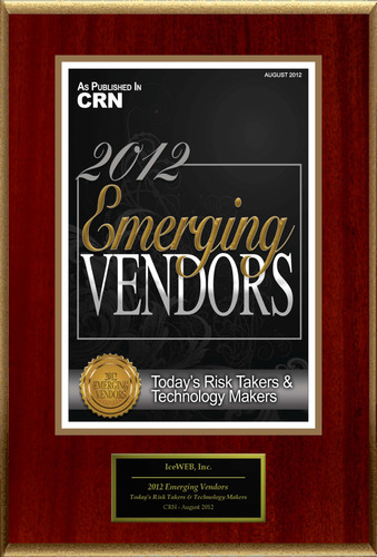 IceWEB, Inc. Selected For '2012 Emerging Vendors'