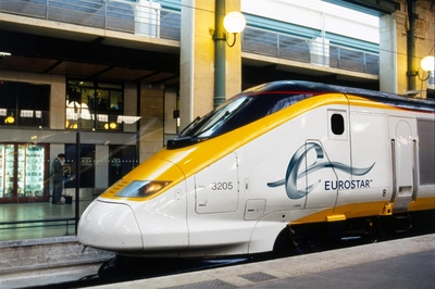 Eurostar Train at Paris Gare Du Nord Station, Courtesy of Eurostar for Rail Europe, Inc. (PRNewsFoto/Rail Europe, Inc.)