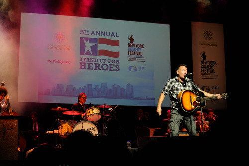 Bruce Springsteen performs at the 2011 Stand Up For Heroes event benefitting the Bob Woodruff Foundation.  ...