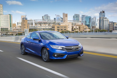 All-New 2016 Honda Civic Coupe Goes on Sale March 15 Providing Enthusiasts with the Most Stylish, Refined, Dynamic and Connected Vehicle in its Class (PRNewsFoto/American Honda Motor Co., Inc.)