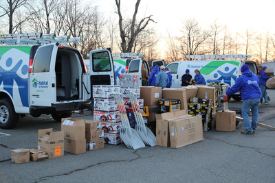 Twenty-four Habitat for Humanity mobile response units were deployed in the greater New York metropolitan area this week to aid in Sandy recovery. The mobile response units visited hard-hit Union Beach (pictured).  (PRNewsFoto/Habitat for Humanity International)