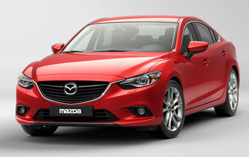 "The 2014 Mazda6 won the ""Best Upper Medium"" sedan category at the Fleet World Honors event.  (PRNewsFoto/Bill Jacobs Automotive Group)"