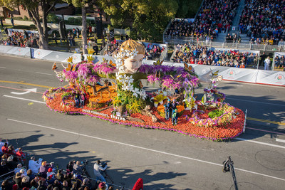 "Kaiser Permanente's ""Helping Mother Nature Thrive"" Rose Parade float"