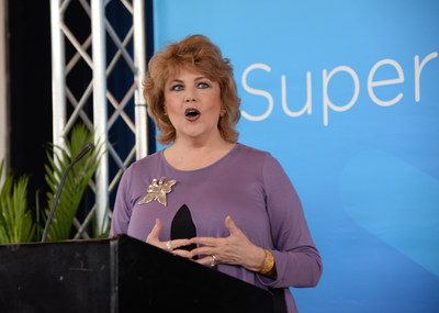 Madison Mayor Mary Hawkins Butler speaks at a news conference in March to announce the city's partnership with C Spire to bring ultra-fast broadband Internet and related services to consumers in the central Mississippi city.