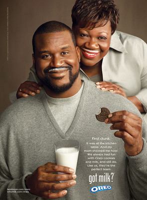 """SHAQUILLE O'NEAL TEAMS UP WITH OREO AND MILK FOR ICONIC """"GOT MILK?(R)"""" AD CAMPAIGN.  (PRNewsFoto/Kraft Foods Inc.)"""