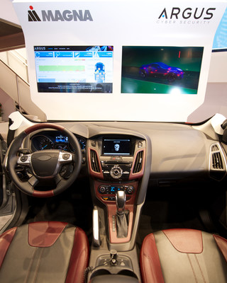 Magna Argus cyber security technology demonstration (PRNewsFoto/Magna International of America..)