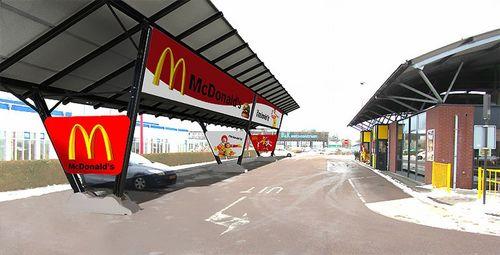 Neuer Masterplan von McDonald's für eine ökologischere Identität durch Solar Carports von Giulio