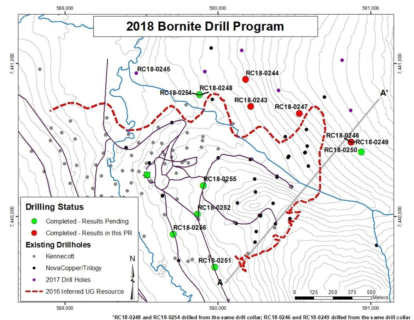 Figure 1- Map Showing Location of 2018 Drilling Program